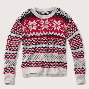 Abercrombie & Fitch Fair Isle Snowflake Sweater